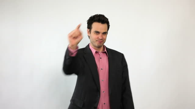 charismatic sales guy, you go man! - pointing stock videos & royalty-free footage