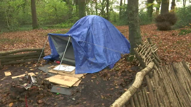 """charities are warning of a growing """"hidden"""" population of rural rough sleepers. the latest figures show the number of people sleeping on uk streets... - hiding stock videos & royalty-free footage"""