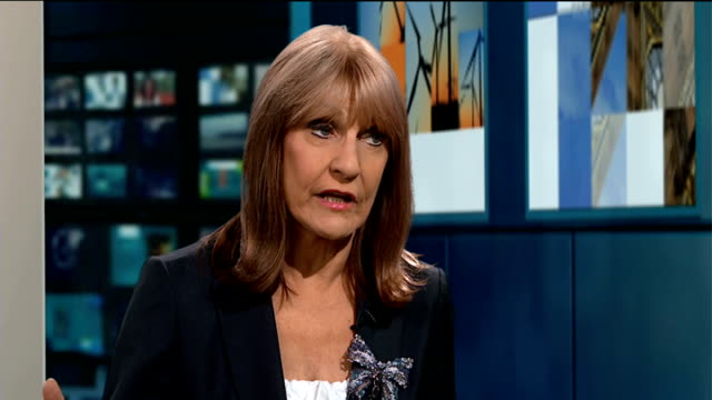 charities issue warning over access to lifeextending cancer drugs england london gir int lynn faulds woods live studio interview sot - lynn faulds stock videos & royalty-free footage
