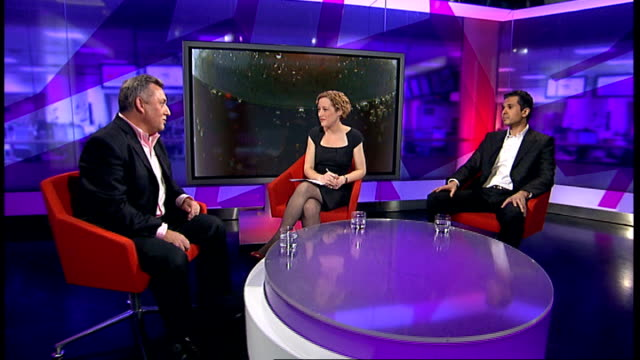 charity calls for new tax on sugary drinks; england: london: gir: int dr aseem malhotra and gavin partington live studio interview sot - sugar stock videos & royalty-free footage