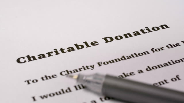 charity donation form. - charitable donation stock videos & royalty-free footage