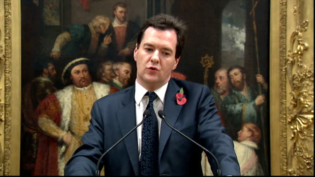 legacy 10 campaign launched to encourage people to leave money to charity george osborne mp speech sot jokes about being put infront of a portrait of... - head chopped off stock videos & royalty-free footage