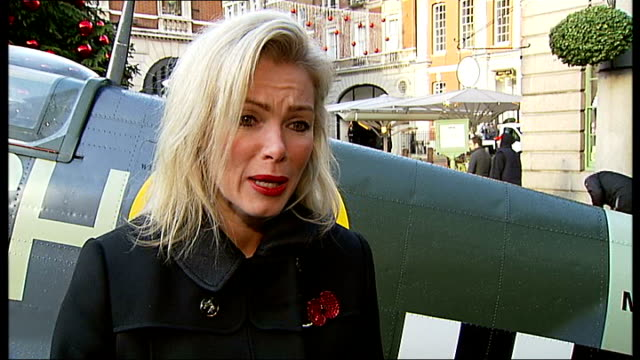 london poppy day launch in covent garden nell mcandrew interview sot captain heather stanning interview sot ben hancock interview sot charles byrne... - heather stock videos & royalty-free footage