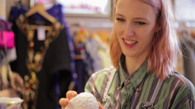 charity shop shopping - shopaholic stock videos & royalty-free footage