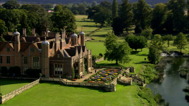 Charlecote Park - Aerial View - England, Warwickshire, Stratford-on-Avon District, United Kingdom