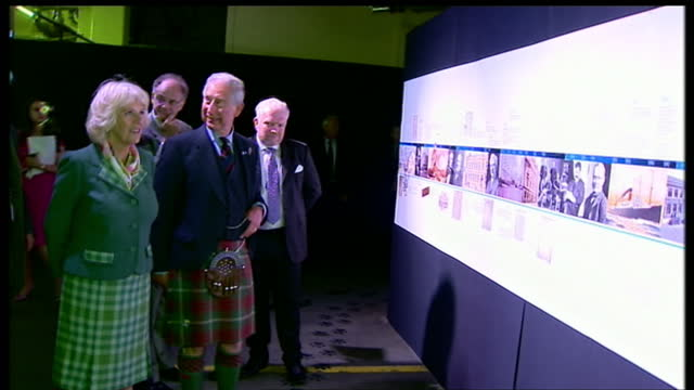 charles and camilla continue on tour of scotland on june 11 2013 in dundee scotland - dundee scotland stock videos and b-roll footage
