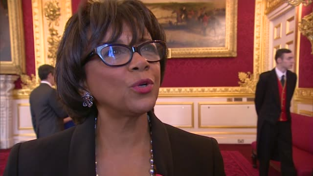 charles and camilla host reception for british oscar winners cheryl boone isaacs interview sot re british acting talent diversity michael caine... - academy of motion picture arts and sciences stock videos & royalty-free footage