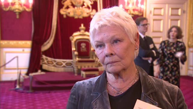 charles and camilla host reception for british oscar winners dame judi dench interview sot young actors under more pressure these days emma thompson... - emma thompson stock videos and b-roll footage