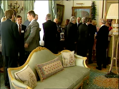 vídeos de stock e filmes b-roll de charles and camilla host reception for royal television society anniversary england london clarence house photography * * camilla duchess of cornwall... - 2007