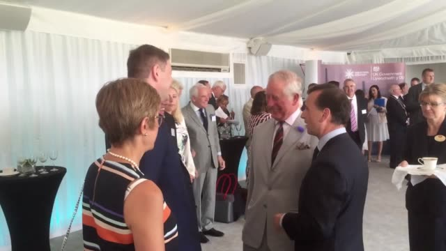 charles and camilla unveil a plaque to formally mark the renaming of the second severn crossing after the prince of wales as a new poll suggested... - charles bridge stock-videos und b-roll-filmmaterial