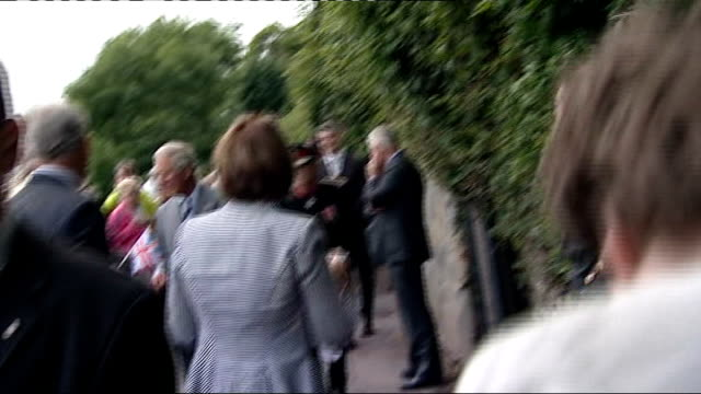 charles and camilla visit dylan thomas house wales carmarthenshire laugharne photography** people standing outside boathouse / prince charles prince... - flat cap stock videos & royalty-free footage