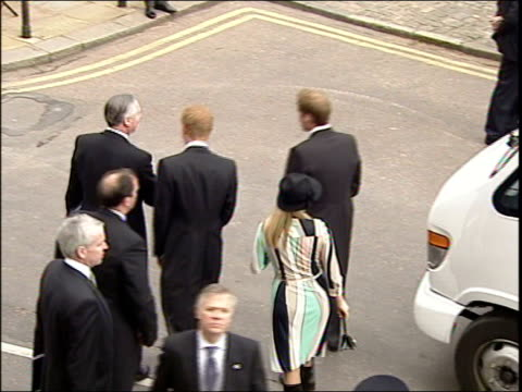 charles and camilla's wedding tbv prince william and prince harry arriving with cousin zara phillips - camilla duchess of cornwall stock videos and b-roll footage