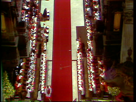 charles and diana wedding: live special: part four: ceremony:; england: london: st paul's cathedral: robert runcie address sot gvs hymns gvs national... - robert runcie stock videos & royalty-free footage