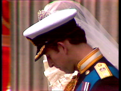 live special part four ceremony england london st paul's cathedral ext gvs prince charles prince of wales and diana princess of wales towards... - frances shand kydd stock videos & royalty-free footage