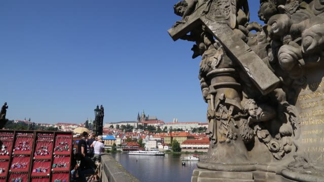 charles bridge and castle of prague - charles bridge stock videos and b-roll footage