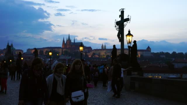 Charles Bridge in Prague at sunsent