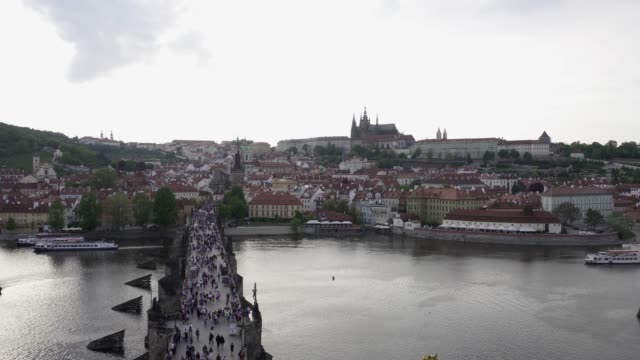 charles bridge in prague czech republic - charles bridge stock videos and b-roll footage
