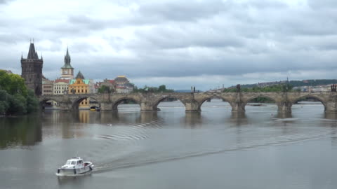 charles bridge in prague - czech republic stock videos & royalty-free footage