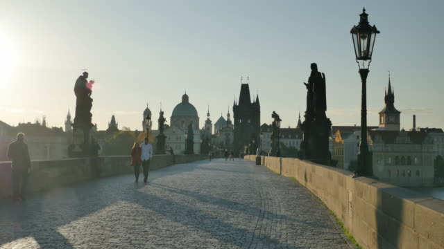 charles bridge, prague, czech republic - charles bridge stock videos & royalty-free footage