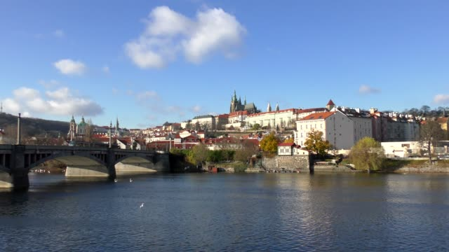 charles bridge - prague, czech republic - river vltava stock videos & royalty-free footage