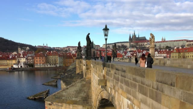 charles bridge - prague, czech republic - prague stock videos & royalty-free footage