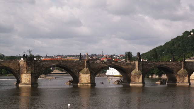 charles bridge - charles bridge stock videos and b-roll footage