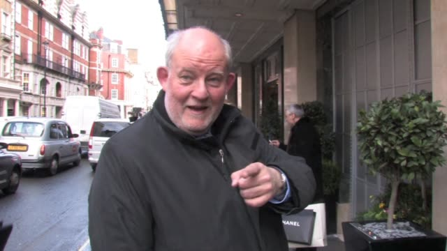 charles clarke the former home secretary walks past claridges hotel enquiring what all the photographers are waiting for. at the celebrity video... - charles clarke uk politician stock videos & royalty-free footage