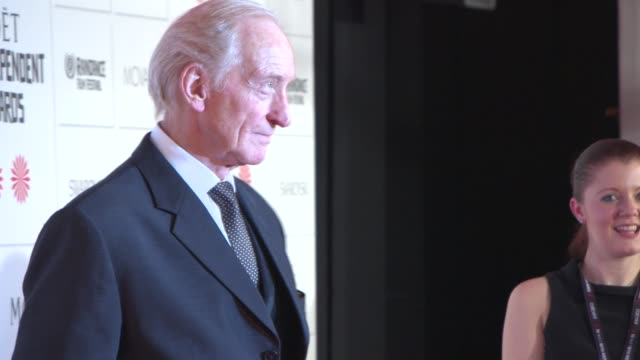 charles dance at the moet british independent film awards 2014 at old billingsgate market on december 07 2014 in london england - audio electronics stock videos & royalty-free footage