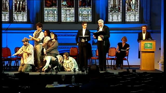 charles dickens bicentenary celebrations: guildhall performance in front of queen elizabeth; england: london: int chickenshed theatre actors... - charles dickens bildbanksvideor och videomaterial från bakom kulisserna