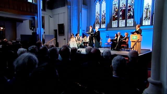 charles dickens bicentenary celebrations: guildhall performance in front of queen elizabeth; performance of dickens readings and scenes continued sot - charles dickens bildbanksvideor och videomaterial från bakom kulisserna