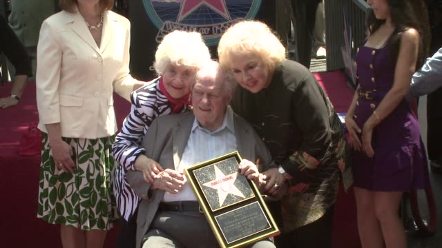 charles durning and doris roberts at the charles durning honored with star on hollywood's walk of fame at los angeles ca. - doris roberts stock videos & royalty-free footage
