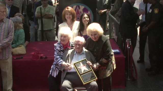 charles durning with family, and doris roberts at the charles durning honored with star on hollywood's walk of fame at los angeles ca. - doris roberts stock videos & royalty-free footage