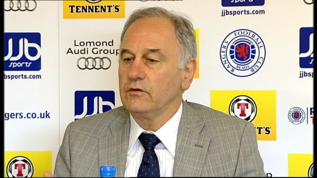 vídeos y material grabado en eventos de stock de charles green agrees deal to buy rangers fc scotland int charles green press conference sot my opinion is for the fans and the club its staff and... - período deportivo