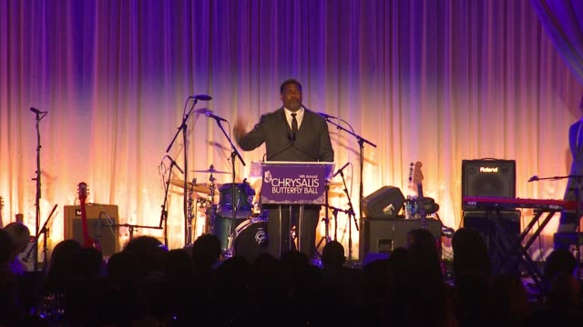speech charles johnson at 14th annual chrysalis butterfly ball in los angeles ca - chrysalis butterfly ball video stock e b–roll