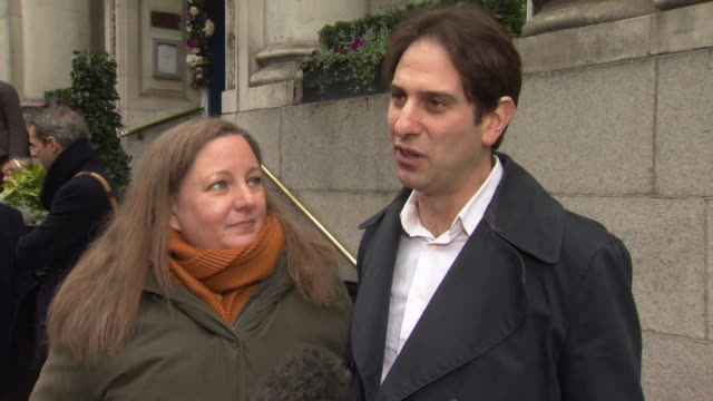 "charles keidan saying it is an ""amazing moment"" to enter into one of the very first heterosexual civil partnerships with rebecca steinfeld - heterosexual couple stock videos & royalty-free footage"