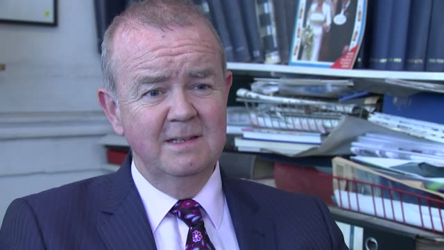 charles kennedy dies aged 55; ian hislop interview sot - one of the great star guests ..he managed to be funny on it - ian hislop stock videos & royalty-free footage