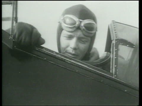 charles lindbergh and his wife test a plane with an increased power engine - charles lindbergh stock videos & royalty-free footage