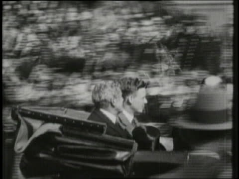 charles lindbergh and us ambassador myron herrick wave from a balcony overlooking a crowded paris street - 1927 stock videos & royalty-free footage