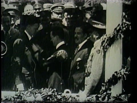 charles lindbergh receives the new york city and new york state medals of valor. - ticker tape stock videos and b-roll footage