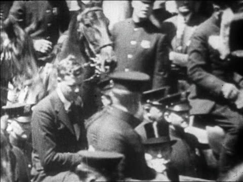 charles lindbergh riding in car in ticker tape parade / newsreel - herbivorous stock videos & royalty-free footage