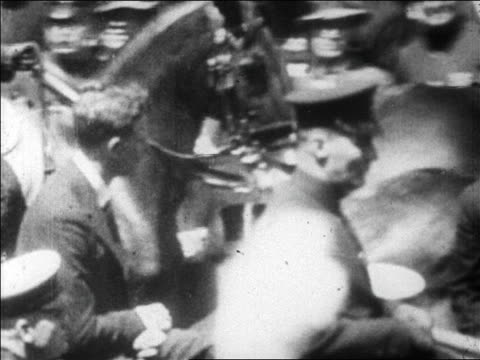 charles lindbergh sitting in car in ticker tape parade / newsreel - herbivorous stock videos & royalty-free footage