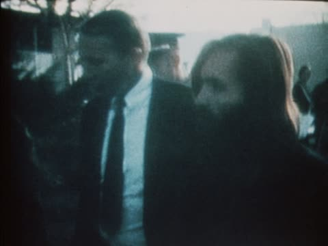 charles manson is lead into court to be tried for murder - murder stock videos & royalty-free footage