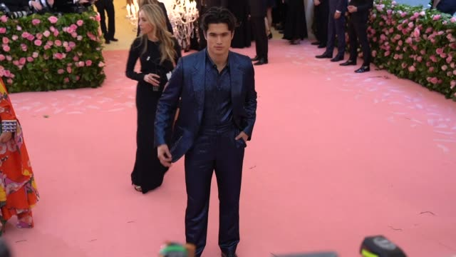 charles melton at the 2019 met gala celebrating camp notes on fashion arrivals at metropolitan museum of art on may 06 2019 in new york city - met gala 2019 stock videos and b-roll footage
