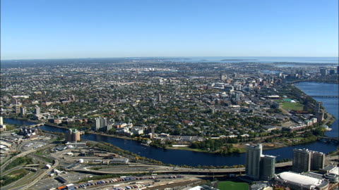 charles river  - aerial view - massachusetts,  middlesex county,  united states - massachusetts stock videos & royalty-free footage