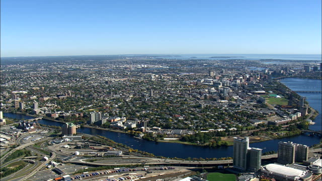 Charles River  - Aerial View - Massachusetts,  Middlesex County,  United States