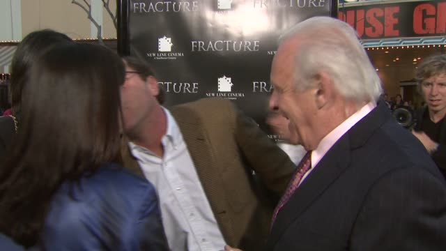 Charles Weinstock Anthony Hopkins and his wife at the 'Fracture' Premiere at the Mann Village Theatre in Westwood California on April 11 2007