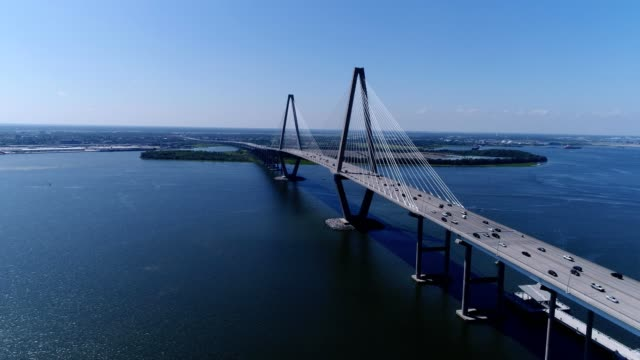 charleston bridge south carolina - south carolina stock videos & royalty-free footage