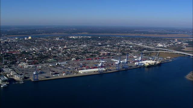 Charleston Docks  - Aerial View - South Carolina,  Charleston County,  United States