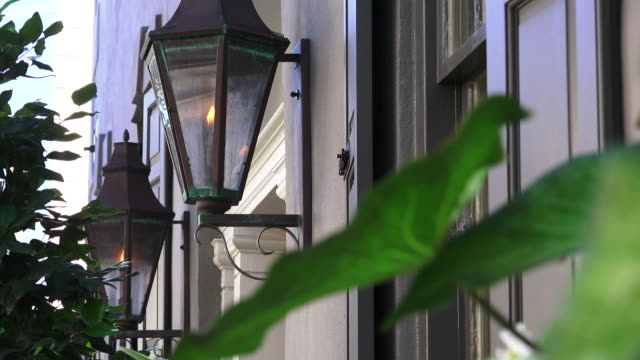 charleston, gass lanterns - south carolina stock videos & royalty-free footage