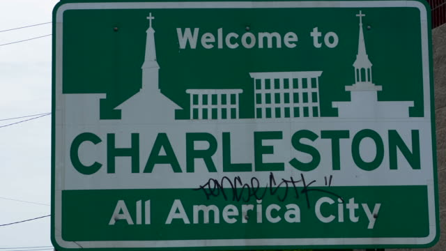 Charleston South Carolina sign of Welcome to All American City